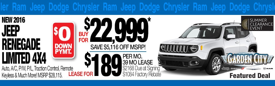 Garden City Jeep Chrysler Dodge Vehicles For Sale In