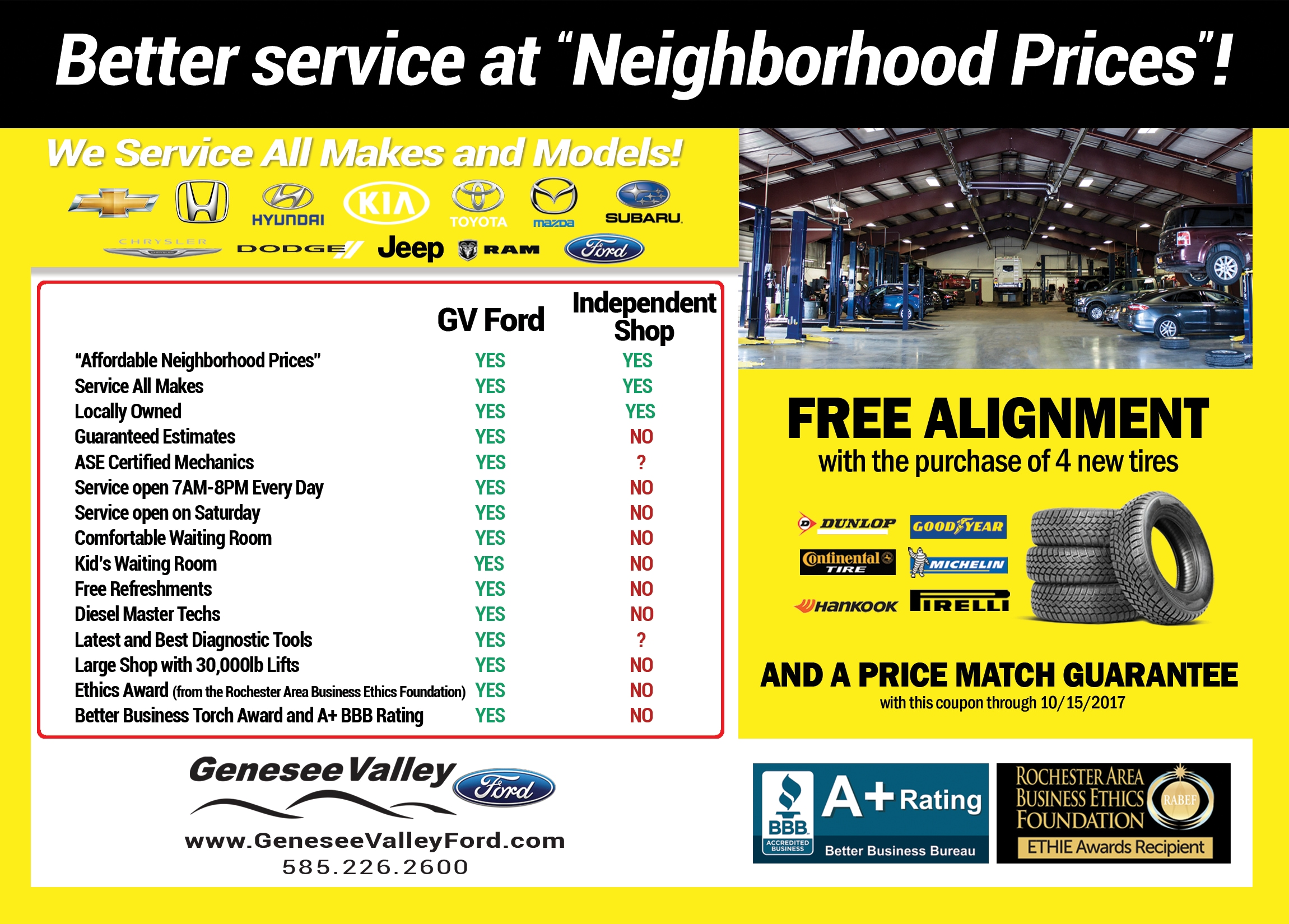 Ford service center genesee valley ford llc