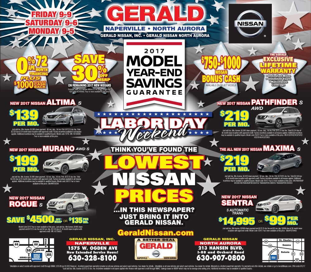 Gerald nissan s current ad
