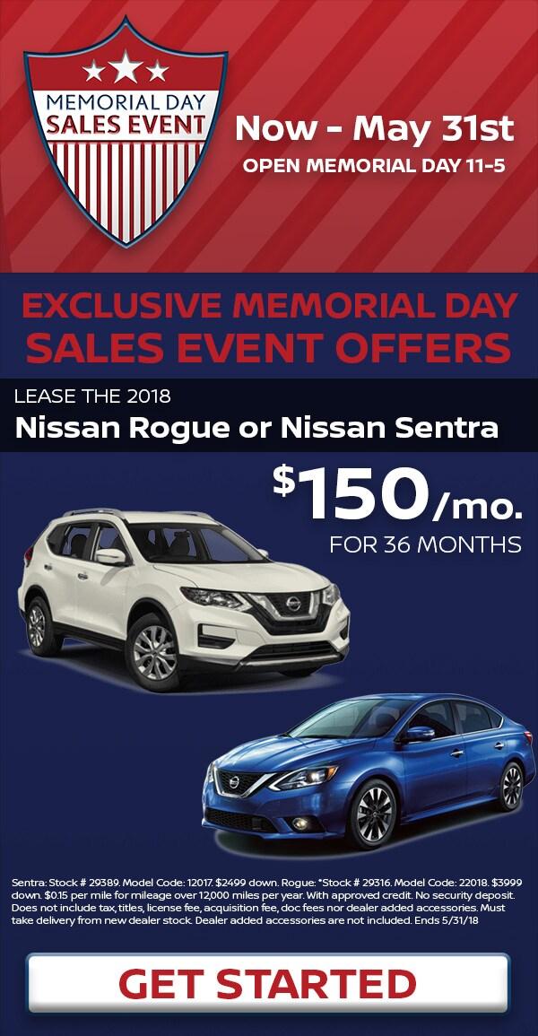 2018 Memorial Day Nissan Specials