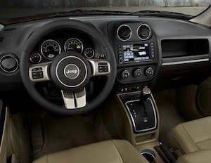 Interior of the 2017 Jeep Patriot
