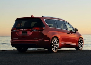 Exterior of the 2018 Chrysler Pacifica