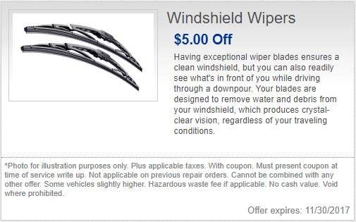 Gezon Motors Special on Windshield Wipers