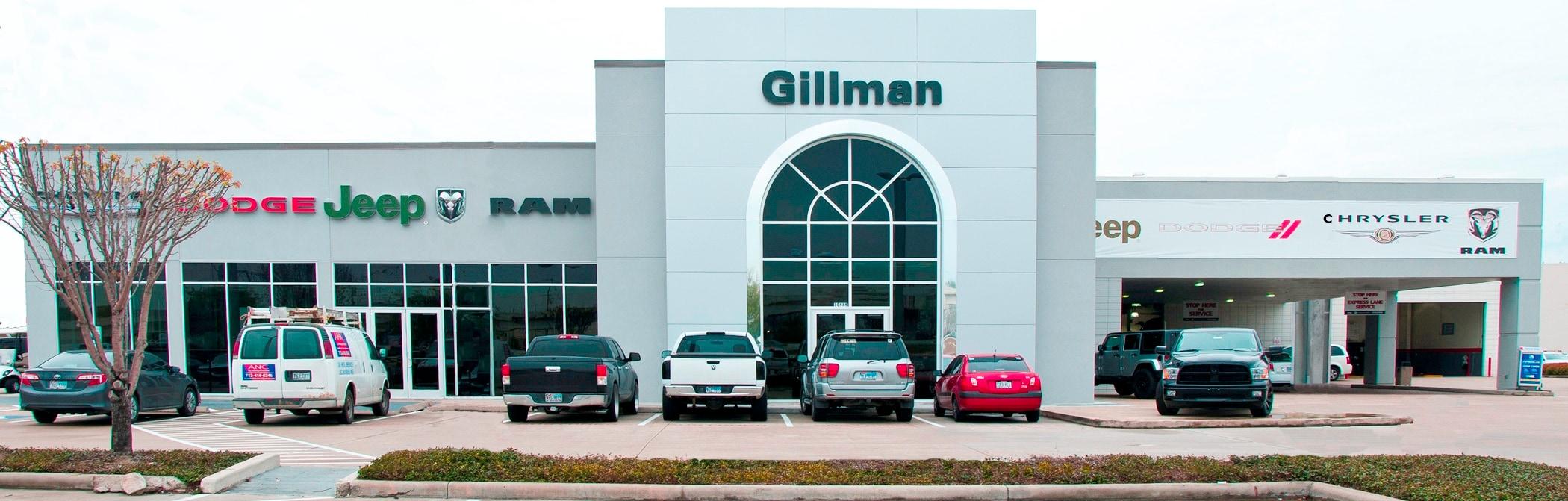 Gillman Chrysler Jeep Dodge RAM: New & Used Car Dealer | Houston, TX