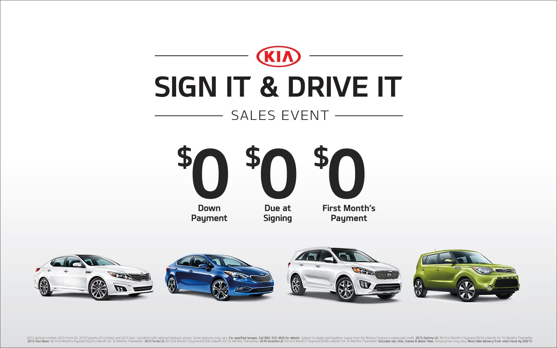 KIA Sign It Drive and It Sales Event Metro Detroit Novi MI ...