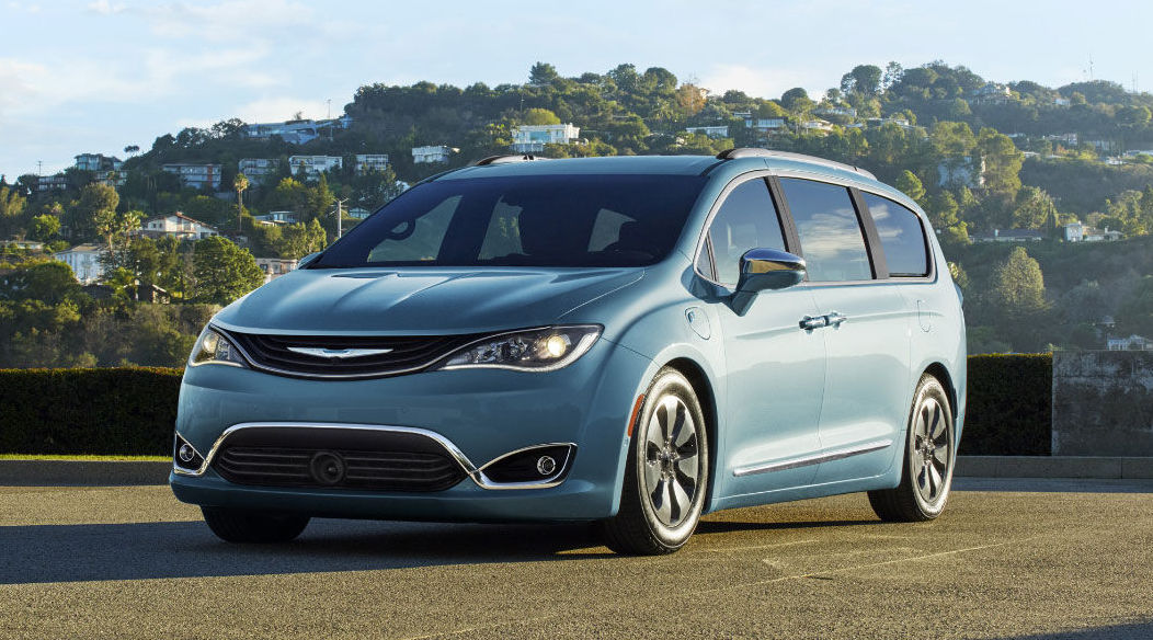 2017 Chrysler Pacifica hybrid teal