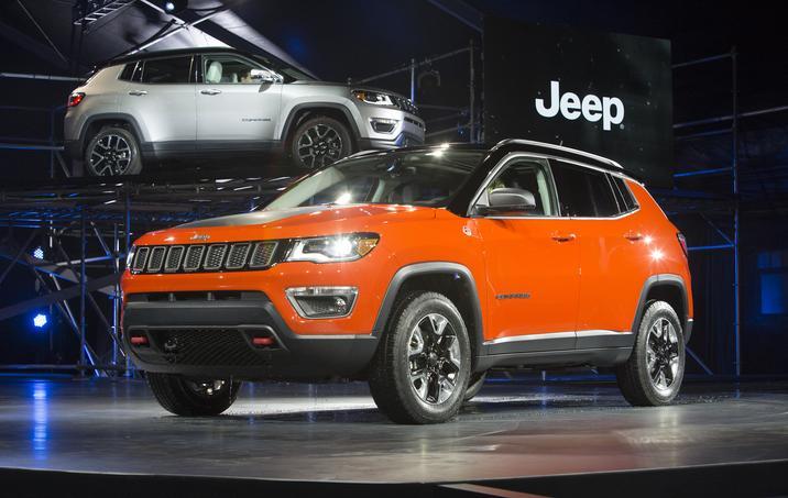 2017 Jeep Compass Orange Side Exterior
