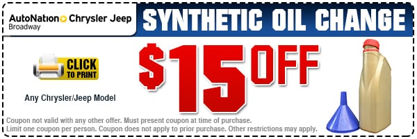 Synthetic oil change service littleton co autonation for Synthetic motor oil change schedule