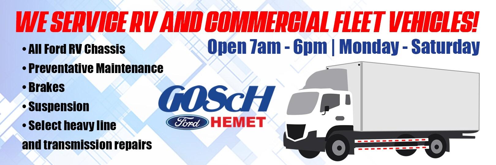 Gosch ford Hemet rv commercial fleet vehicle banner