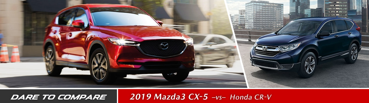 The 2019 Mazda CX-5 compares well to the Honda CR-V, check it out at Gossett Mazda in Memphis, TN