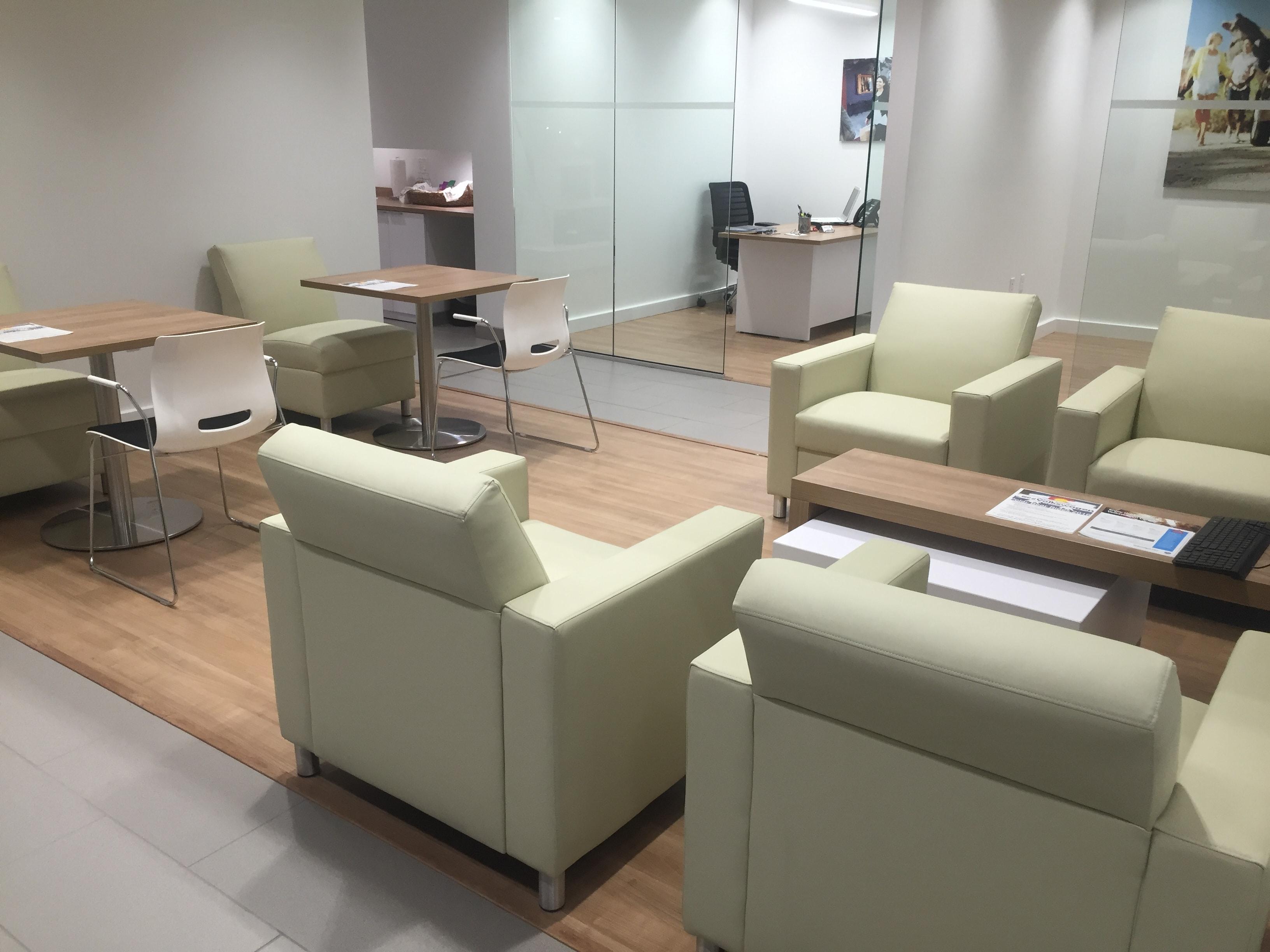 Cozy Customer Lounge