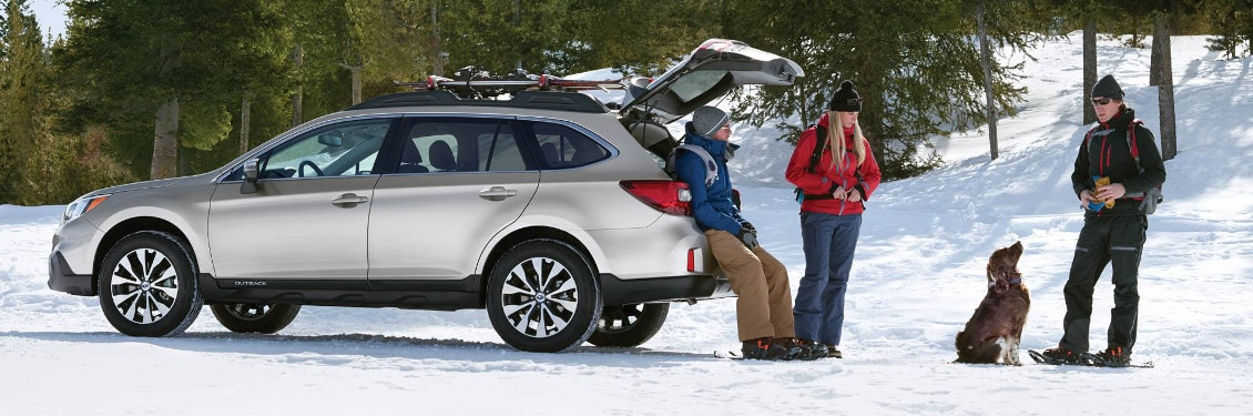 2017 Subaru Outback on snow in Bensenville, IL