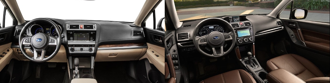 2017 Subaru Outback Interior and 2017 Subaru Forester Interior