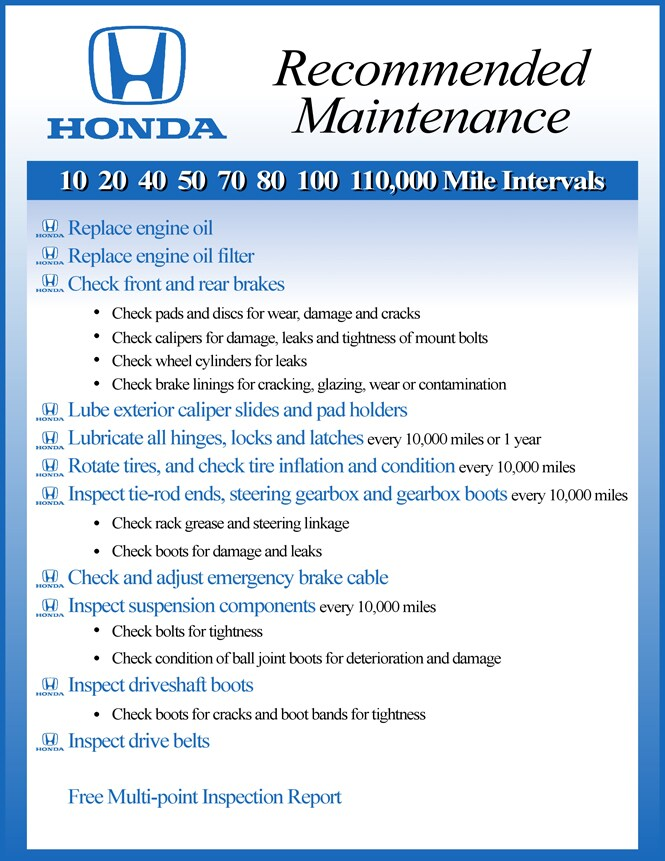 Auto maintenance manchester grappone honda for Concord honda service coupons