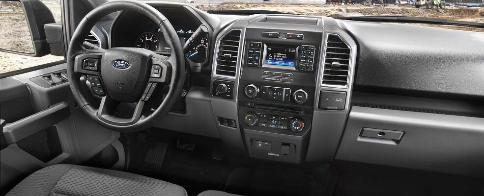 The Ford F-150's interior is great for Joliet, IL area truck enthusiasts