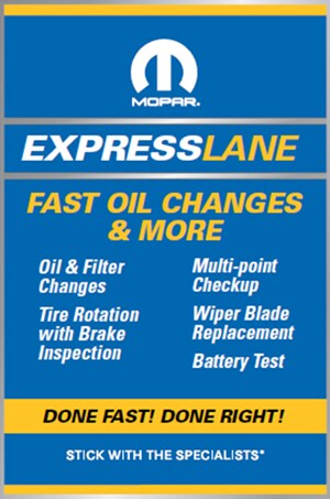 Fast Oil Change Promotional Image For Car Dealership - Grieger's Motor Sales