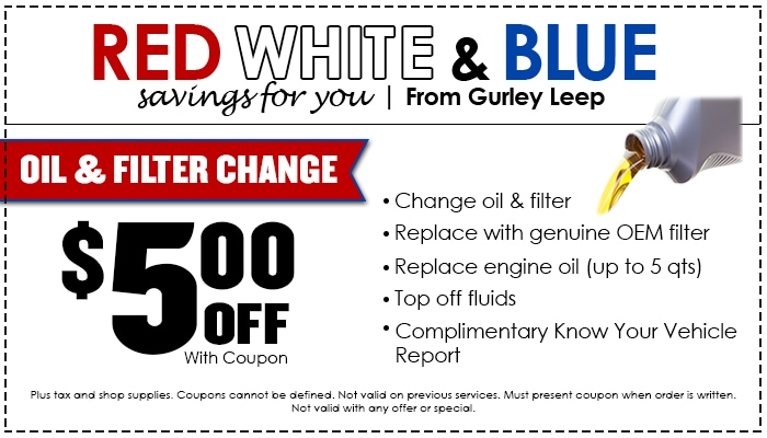 $5 off oil and filter