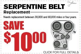 Ford Serpentine Belt Replacement & Repair Specials Duluth GA