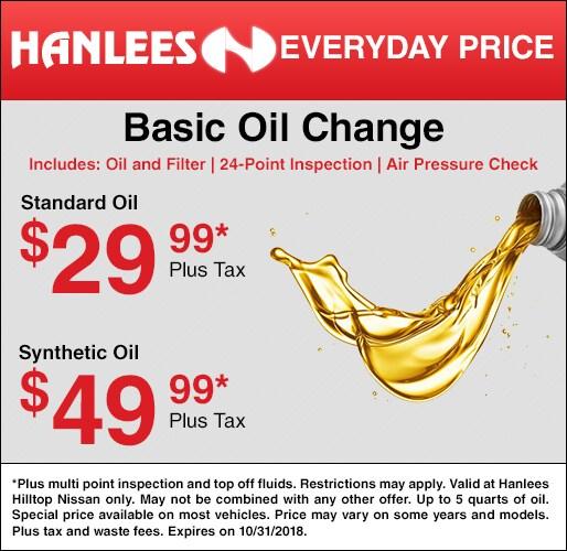 Basic Oil Change. Offer ...