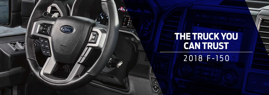 Safety features and interior of the 2018 F-150 - available at Zeigler Plainwell Ford near Kalamazoo and Grand Rapids, MI