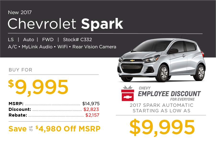 New Chevrolet Spark Special Offer