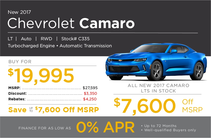 New Chevrolet Camaro Special Offer