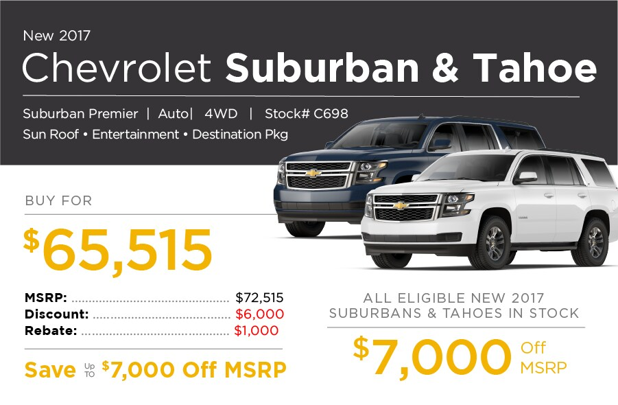 Chevrolet Suburban & Tahoe Special Offer