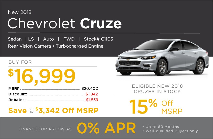 New Chevrolet Cruze Special Offer
