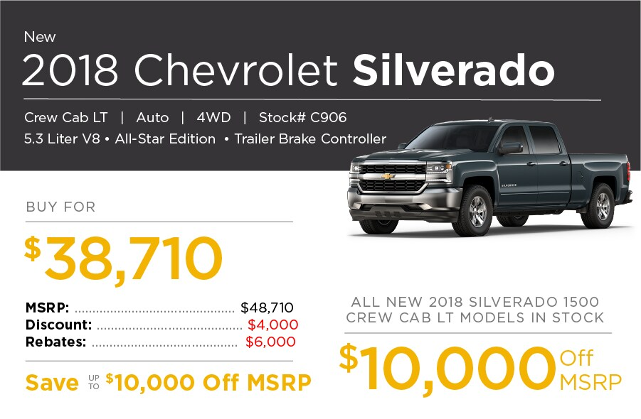2018 Chevrolet Silverado Special Offer
