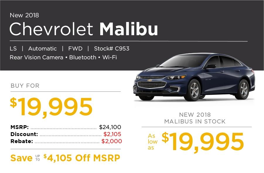New Chevrolet Malibu Special Offer