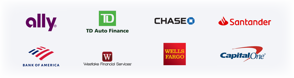 Lenders: Ally, TD Auto Finance, Chase, Santander, Bank of America, Westlake Financial Services, Wells Fargo, Capital One
