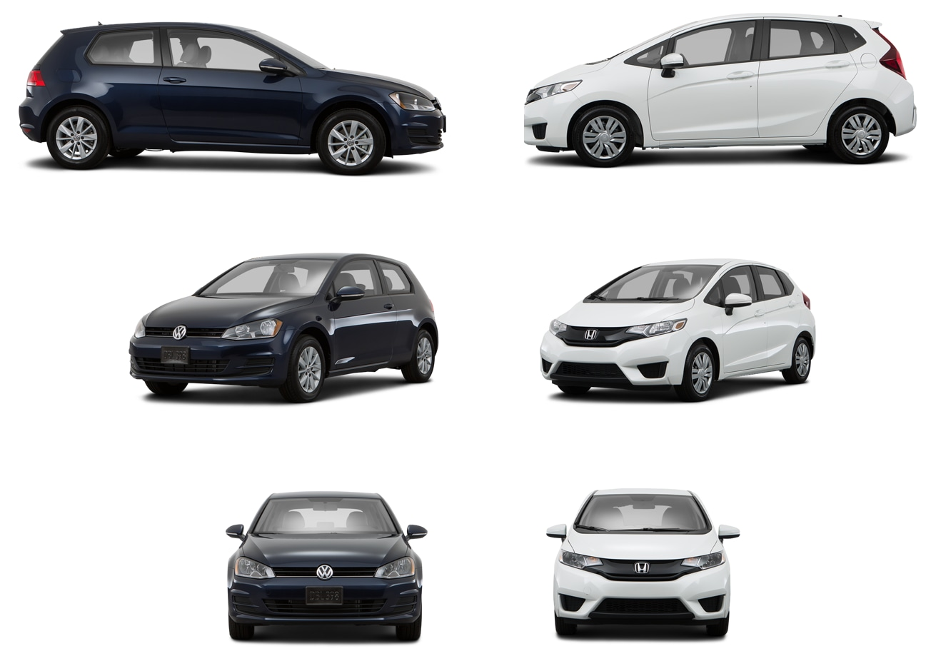 Compare VW Golf to Honda Fit in Huntsville AL  Compact Hatchback