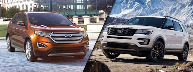 2017 Ford Edge vs Ford Explorer