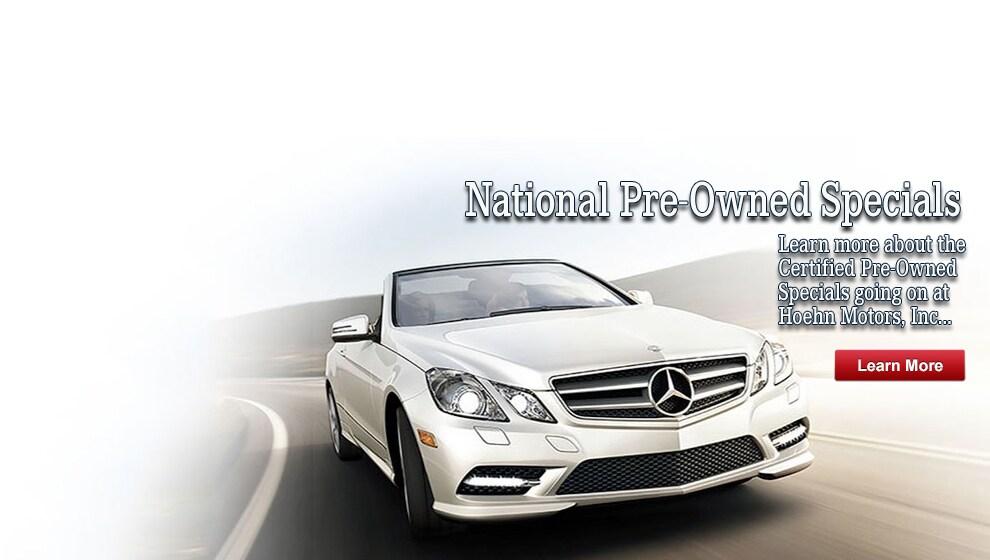 Hoehn motors new pre owned mercedes benz dealer for Mercedes benz hoehn