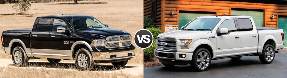 2016 RAM 1500 vs Ford F-150