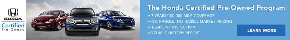Honda Certified Pre-Owned at Honda East