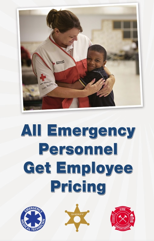 All Emergency Personnel Get Employee Pricing