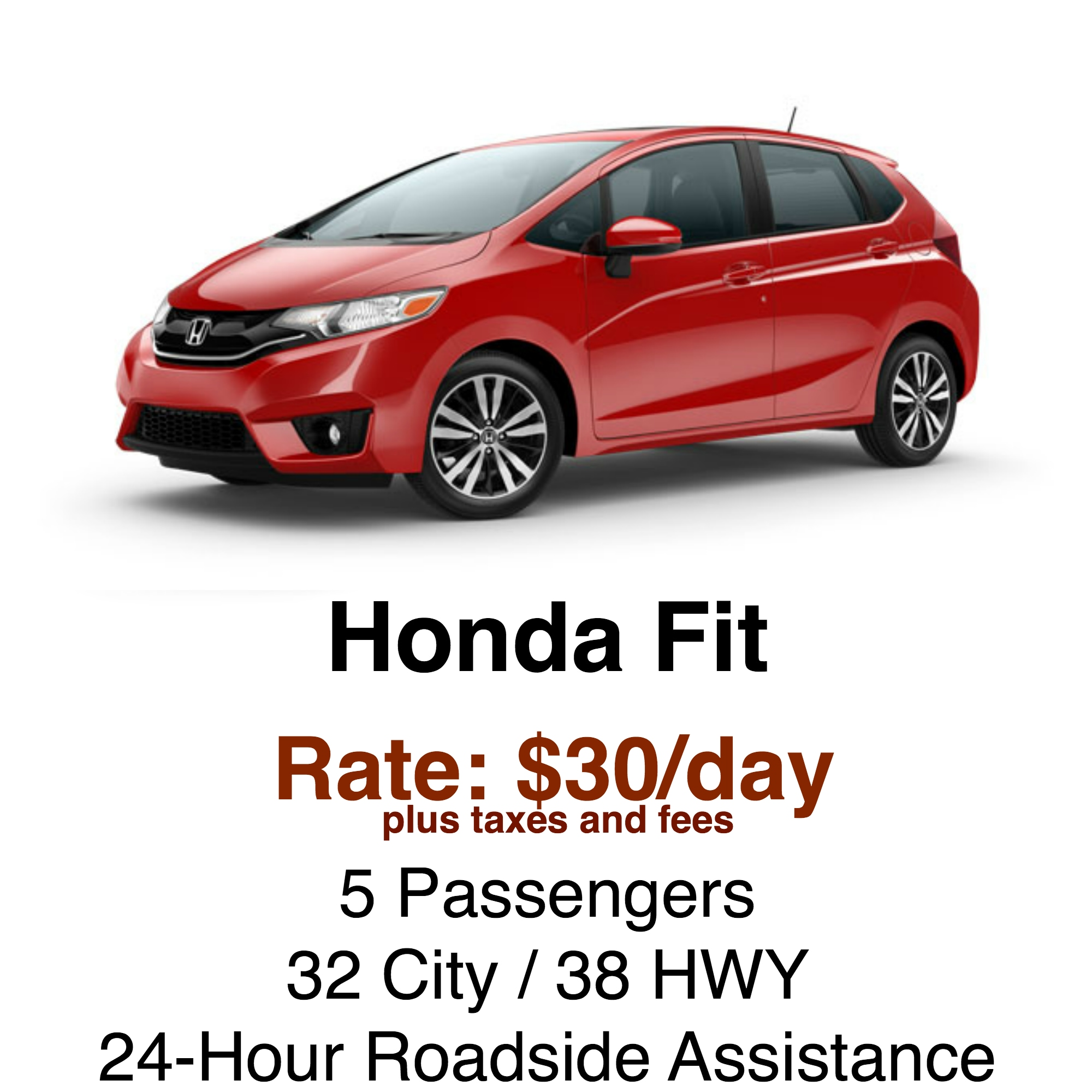 rental vehicles rates honda of concord
