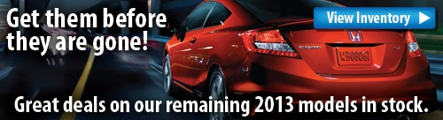Great Deals On 2013 Models