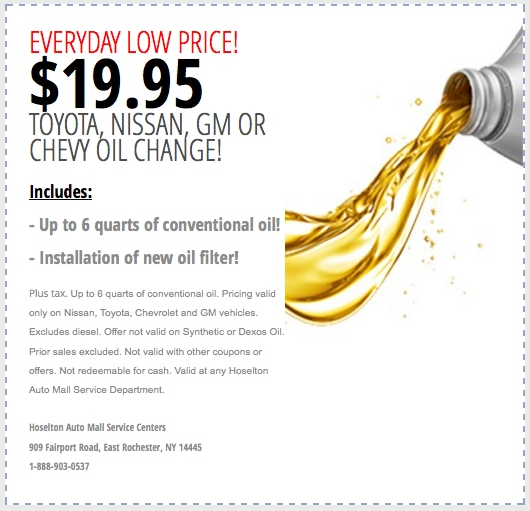 Discount Oil Change in Rochester, NY> <br id=