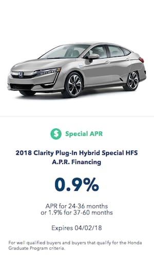 2018 Honda Clarity Plug-in Hybrid Special Finance Offer near Fort Worth Texas