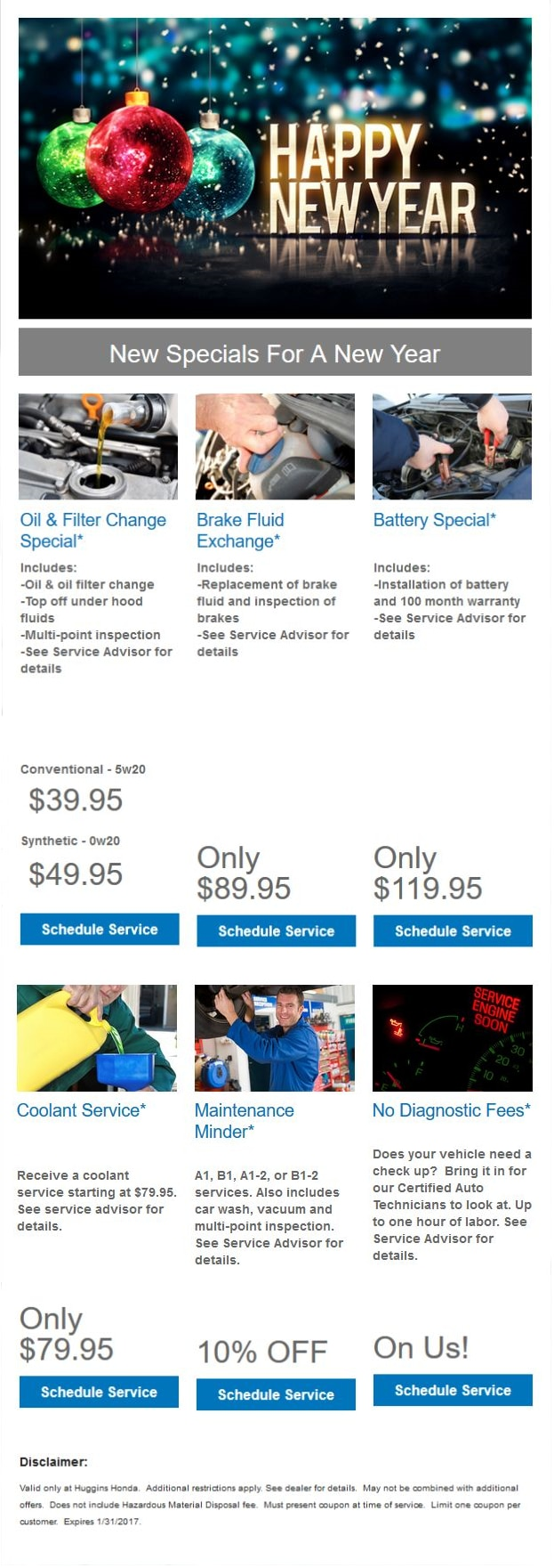 Honda Service Specials At Huggins Honda Serving Fort Worth TX