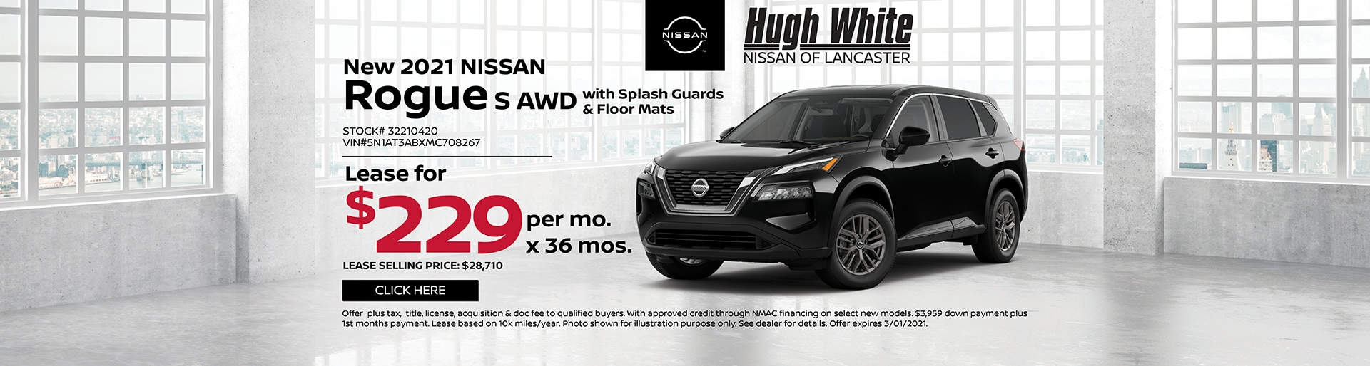 2021 Nissan Rogue Special Offer | Hugh White Nissan Lancaster