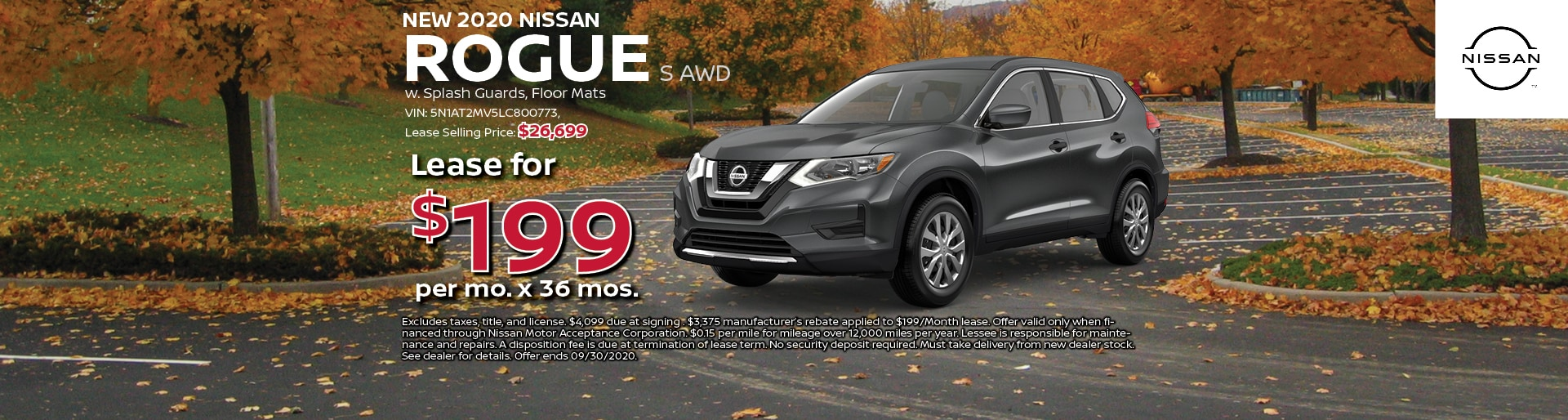 2020 Nissan Rogue S Lease for $199 at Hugh White Nissan | Lancaster, OH