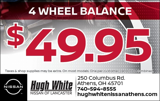 Nissan $49.95 4 Wheel Balance  Coupons