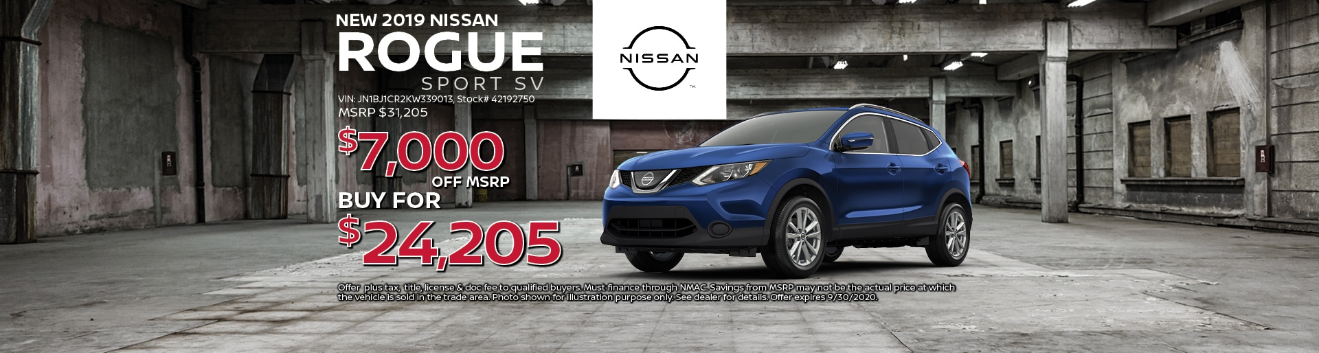 2019 Nissan Rogue Sport SV Special Offer| Lancaster, OH
