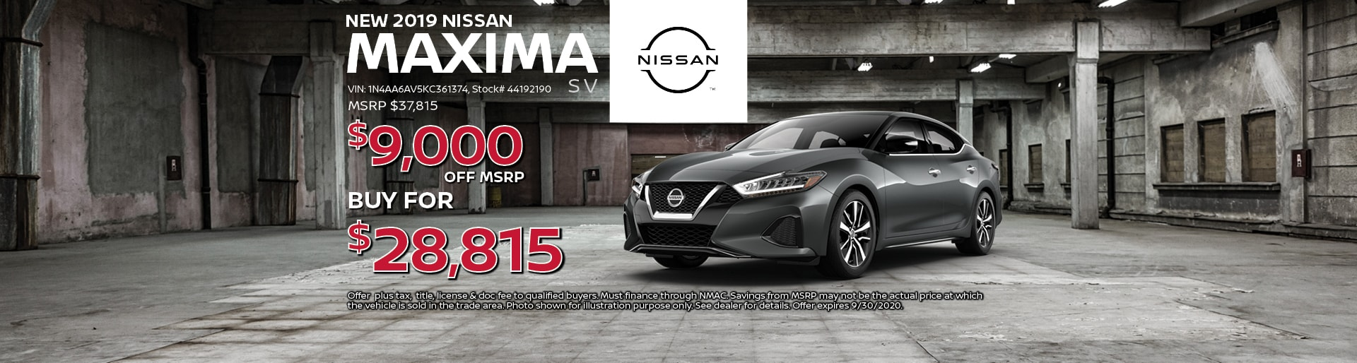 2019 Nissan Maxima SV Special Offer| Lancaster, OH