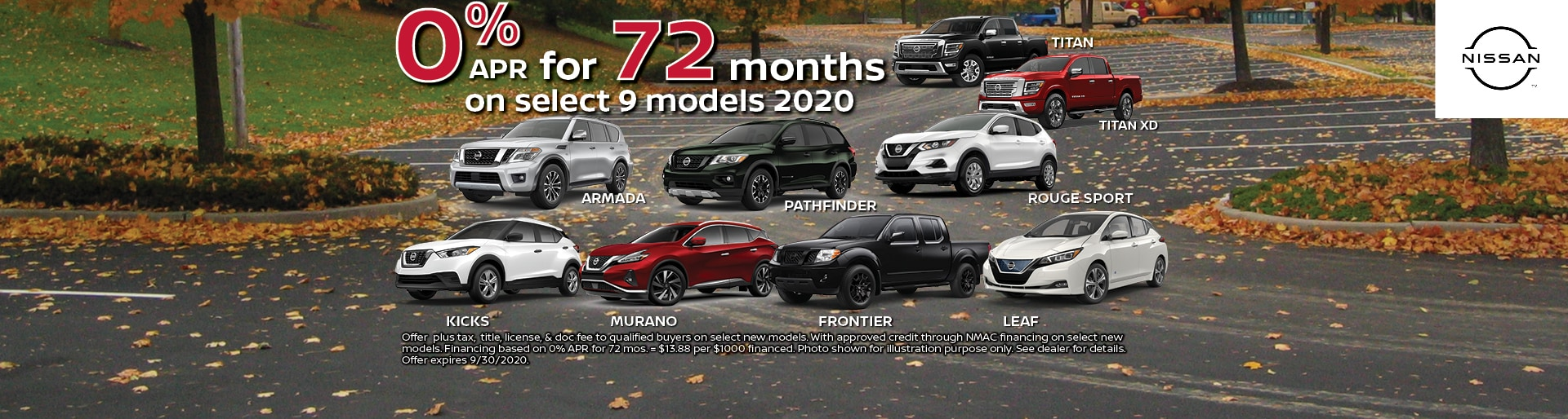 0% for 72 Months at Hugh White Nissan Lancaster, OH