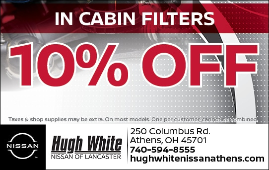 Nissan In Cabin Filters Offer