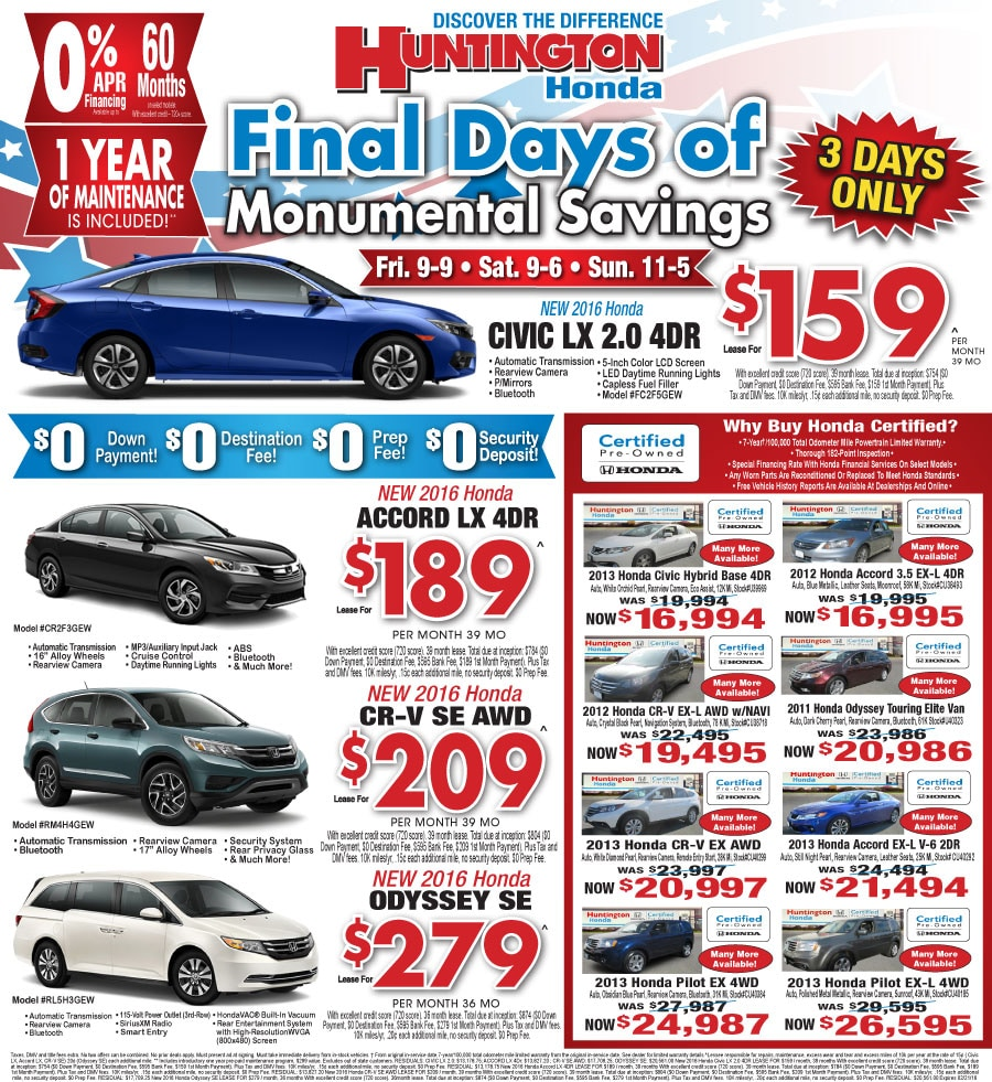 Honda Lease Specials, Lease A Honda. The List Below To Find Auto Lease Deals.  2018 Honda. A Short Term Car Lease With Long Term Car.Video Is Not Visible,  ...